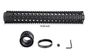 "15"" Black Free Float Quad Rail Handguard - 3CR Tactical"