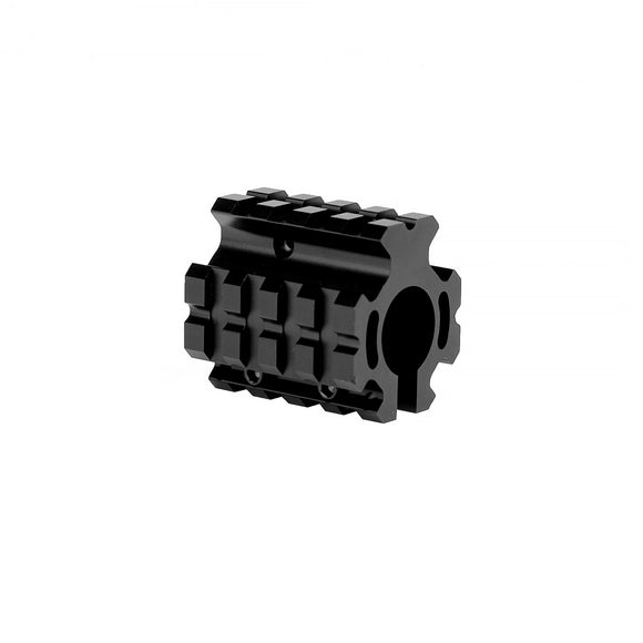 0.750 Low Profile Quad Rail Gas Block - 3CR Tactical