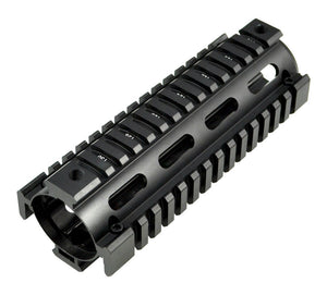 "6.75"" Low Profile Carbine Length 2 Piece Drop-in Quad Rail for .308 DPMS - 3CR Tactical"
