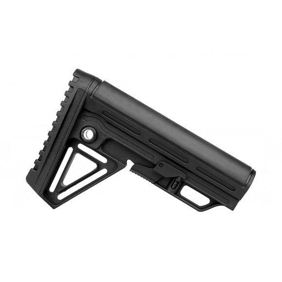 Black Alpha Collapsible 6 Position Butt Stock with Pad - 3CR Tactical