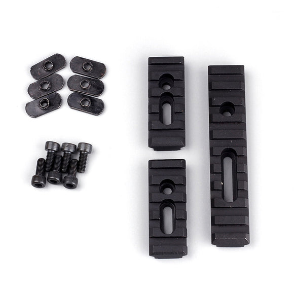 3 Piece Tactical Multi Purpose Picatinny Rail Mount Set - 3CR Tactical