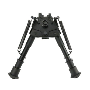 "6-9"" Retractable Adjustable Rifle Bipod with Spring Return and Quick Release Sling Swivel Stud Mount Adapter - 3CR Tactical"