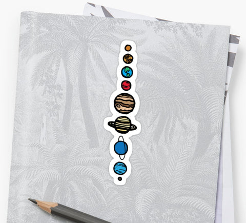 Planets Colour Sticker on Notebook - The Ultimate Sticker Gift Guide