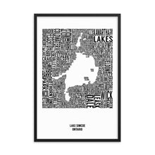 Load image into Gallery viewer, Lake Simcoe Typography Map