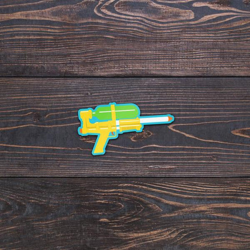 Retro 80s watergun stickers