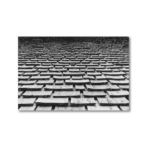 Wooden shingles.  Framed black and white art prints.  12x18 - ZNA Creative