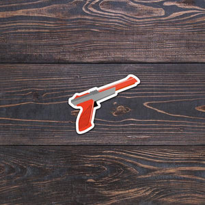 Retro zapper waterproof stickers
