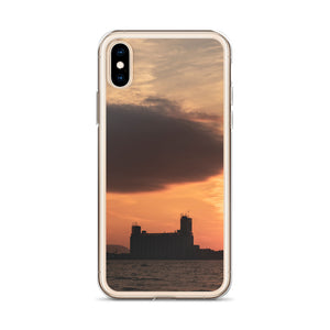 An iPhone case featuring the famous Collingwood Terminals on Georgian Bay, off Lake Huron of the Great Lakes.  This popular spot is a must see if visiting Collingwood, and this iPhone case makes a great Collingwood souvenir.  iPhone X phone cases.