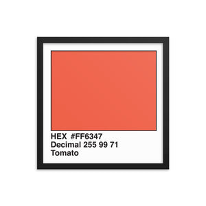 16x16 Tomato HEX print #FF6347.  Artwork and decor for designers and developers.  Great for any workplace or home office.
