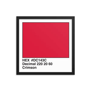 16x16 Crimson HEX print #DC143C.  Artwork and decor for designers and developers.  Great for any workplace or home office.