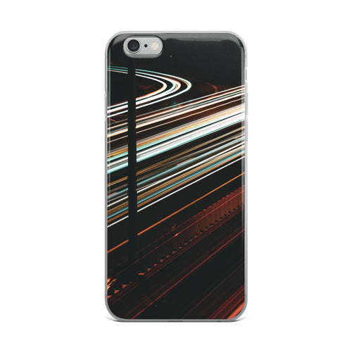 Custom design iPhone case. White and red light trails span across the 417 highway in Ottawa, Canada  Original long exposure photography artwork from ZNA Creative, iPhone cases perfect for any occaision.