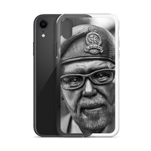 Load image into Gallery viewer, A dramatic black and white iPhone case picturing a Canadian Legion veteran.  iPhone X cases