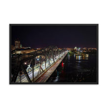 Load image into Gallery viewer, Ottawa Gatineau Inter-Provincial Alexandra Bridge at Night - Lon