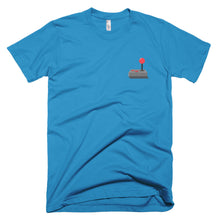 Load image into Gallery viewer, Retro joystick tee shirt with graphic on upper left