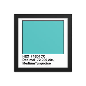10x10 MediumTurquoise HEX print #48D1CC.  Artwork and decor for designers and developers.  Great for any workplace or home office.