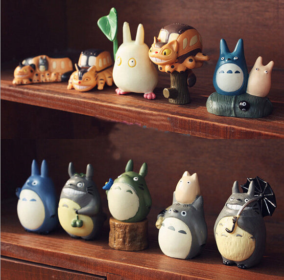 Totoro in different moods, 10 piece-set