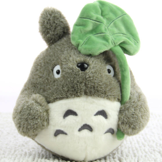 Totoro with Signature Lotus Leaf Plushie