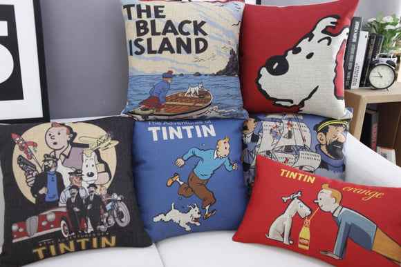 Tintin Cushions in Vintage Cotton