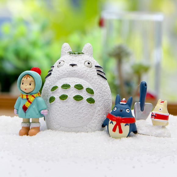 Totoro in winter, 4-piece set