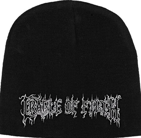 Cradle of Filth | Beanie Stitched White Logo