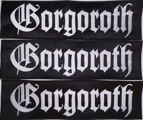 Gorgoroth | Backstripe Stitched White Logo