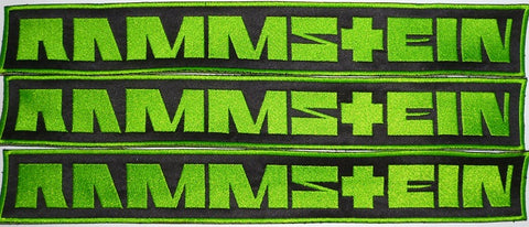 Rammstein | Backstripe Stitched Green Logo