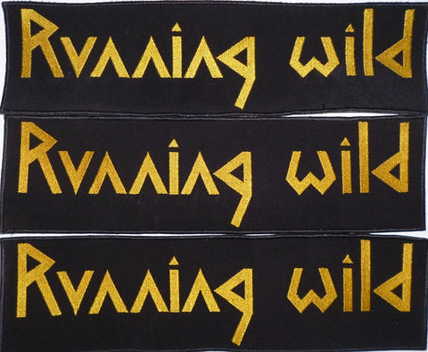 Running Wild | Backstripe Stitched Gold Logo