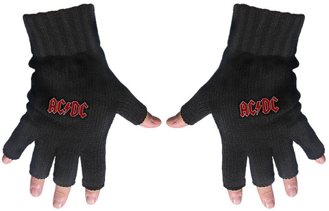 AC/DC | Fingerless Gloves Red Logo