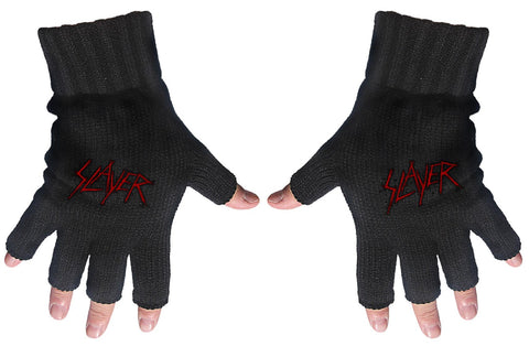 Slayer | Fingerless Gloves Red Scratched Logo