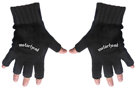 Motorhead | Fingerless Gloves White Logo