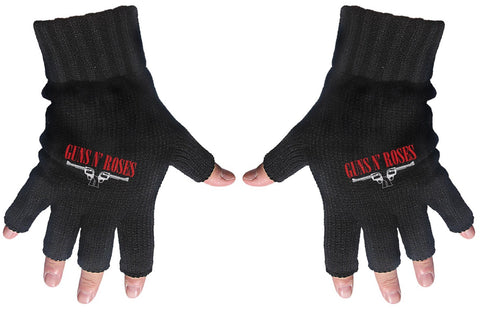 Guns & Roses | Fingerless Gloves Logo & Pistols