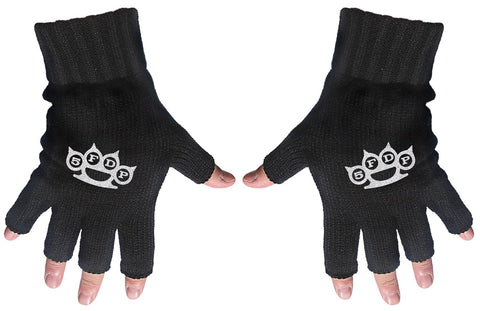 Five Finger Death Punch | Fingerless Gloves White 5FDP