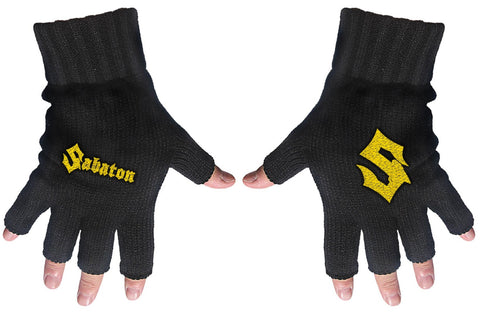 Sabaton | Fingerless Gloves Gold Logo & S