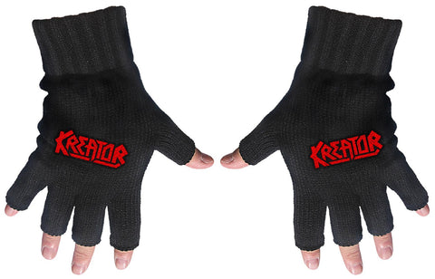 Kreator | Fingerless Gloves Red Logo