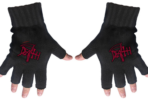 Death | Fingerless Gloves Red Logo