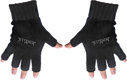 Testament | Fingerless Gloves Grey Logo