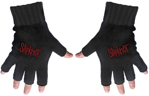 Slipknot | Fingerless Gloves Red Logo