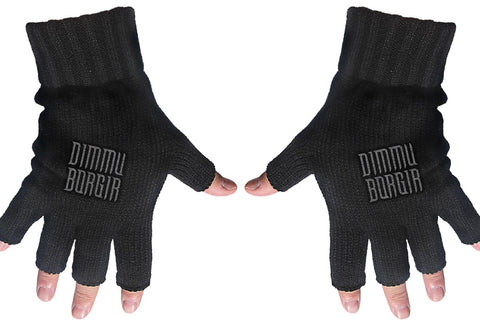 Dimmu Borgir | Fingerless Gloves Grey Logo