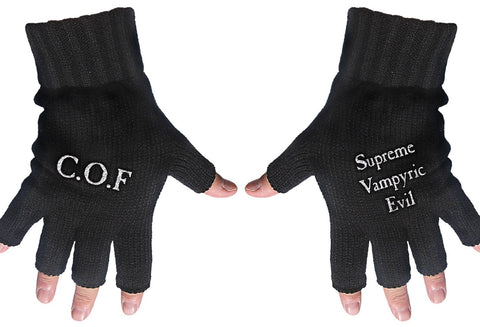 Cradle of Filth | Fingerless Gloves White Cof & Supreme