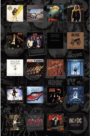 AC/DC | Albums Collage Flag