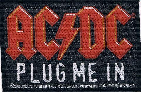 AC/DC | Plug Me In Woven Patch