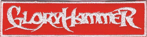 Gloryhammer | Stitched White On Red Logo