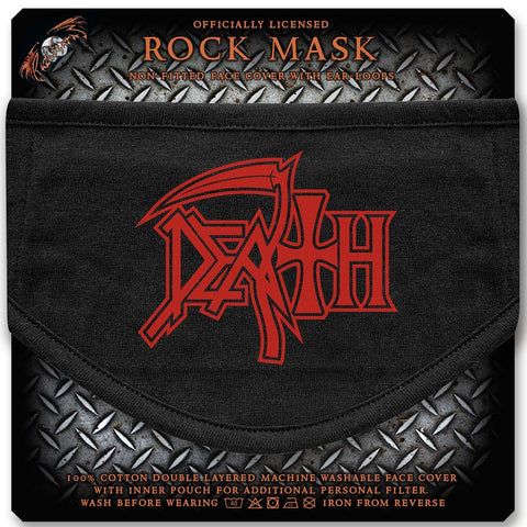 Death | Face Mask Red Logo