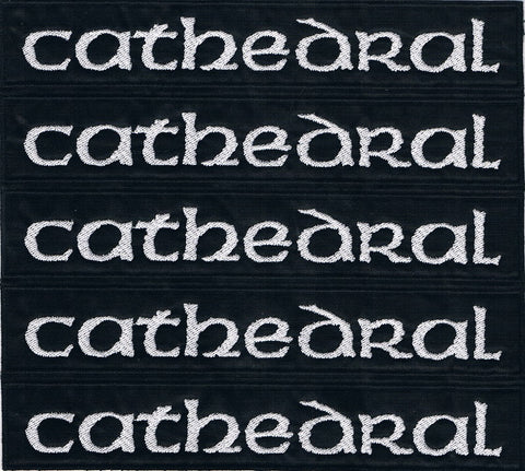 Cathedral | Stitched Stripe White Logo