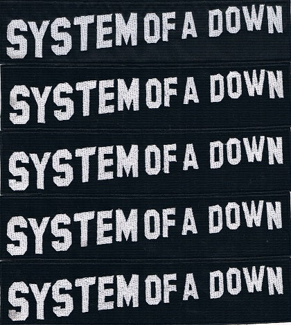 System of a Down | Stitched Stripe White Logo