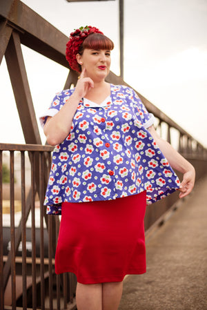 'Miss Red Penny' Maternity Skirt
