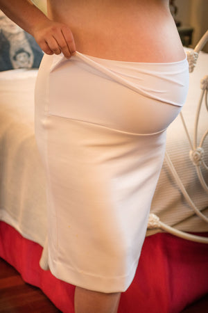 'Miss White Penny' Maternity Skirt