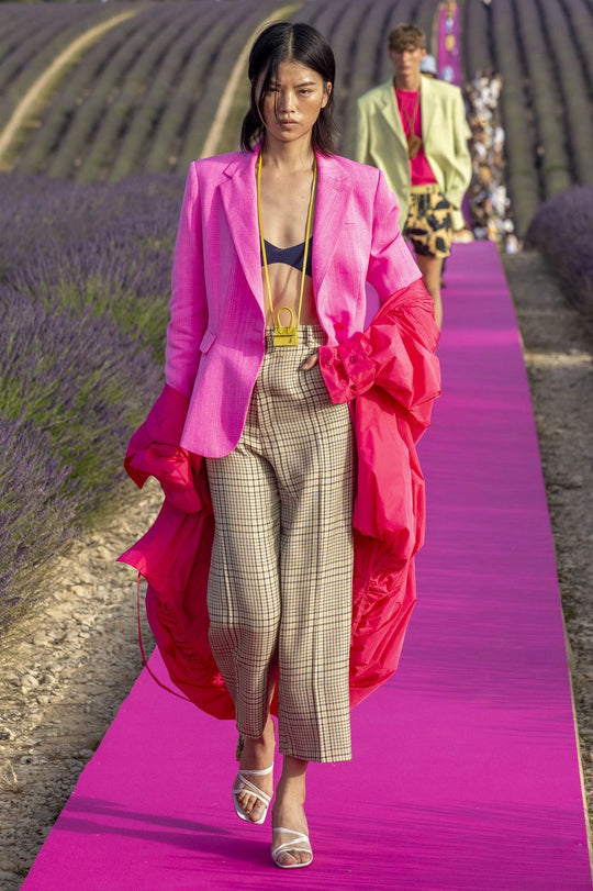 Jacquemus 10th Anniversary show was held on a Lavender Farm