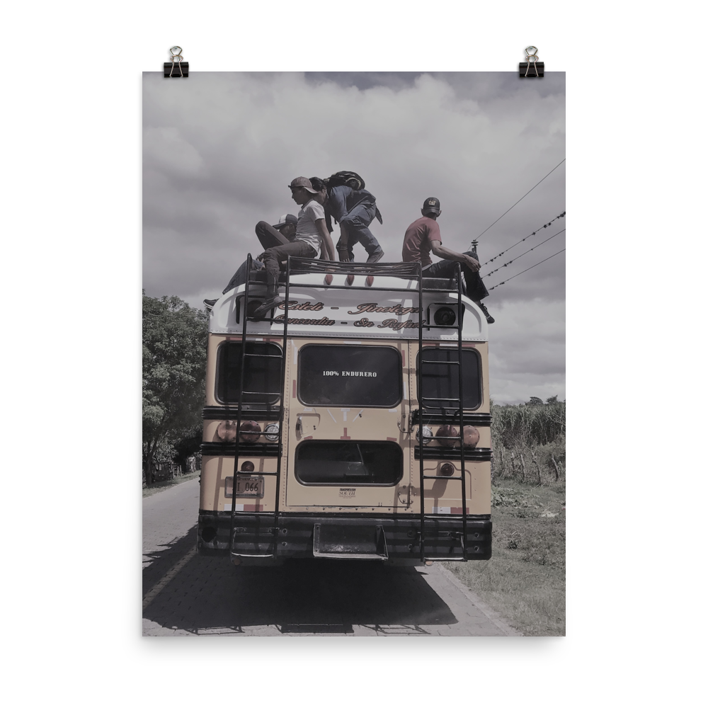 Chicken Bus Photo paper poster
