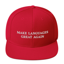Load image into Gallery viewer, Make Languages Great Again Snapback Cap